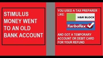 Your stimulus payment is where?! Wrong bank accounts and tax preparer issues