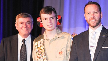 Autistic boy from Ohio earns Boy Scout's highest rank