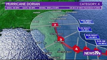 Hurricane Dorian's track keeps shifting, storm may not make