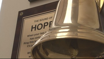 'I just beat it:' 10-year-old rings bell to celebrate beating cancer at Georgia children's hospital