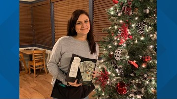 'The best feeling ever': Georgia waitress receives $1,000 tip