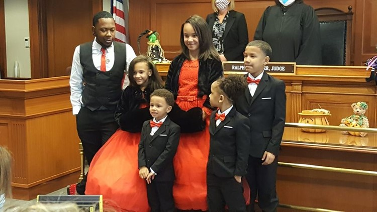 'I'm your dad forever': Foster dad adopts all five siblings so they can stay together