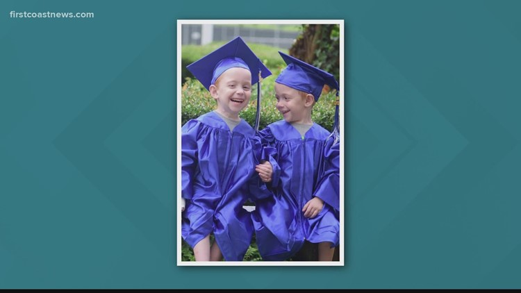 CONGRATS CARTER & CONNER! Formerly conjoined twins graduate pre-K