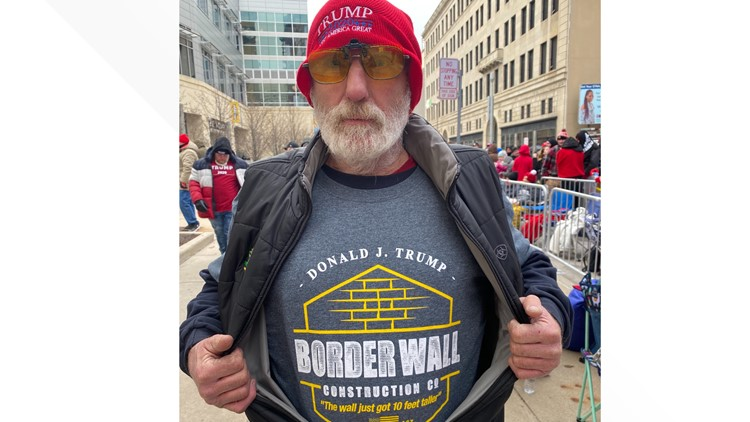 Mark Hagen of Maumee Trump rally