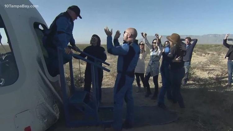 William Shatner blasts into space, record books aboard Blue Origin