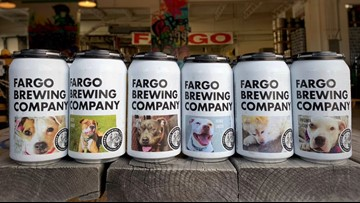 North Dakota craft brewery puts rescue dogs on beer labels to find them forever homes