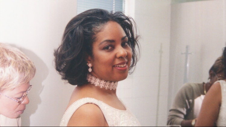 Lisa Swinton McLaughlin on her wedding day