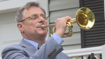'Bring honor to those who have passed' Buglers play Taps on front porches to honor fallen from home