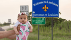 Newborn's epic road trip brings her to Louisiana