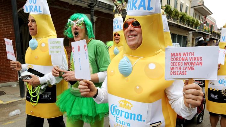Coronavirus 'Krewe Da Flu' & walking beers infect Mardi Gras 2020