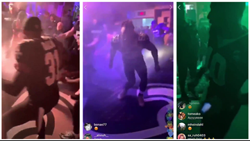 Watch: Saints step up locker room celebrations with fog, lights and 'Choppa Style'