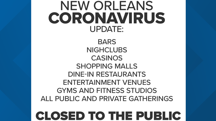 new orleans closed to the public restrictions