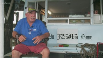 'I got my boat. That's all I need': Man rides out Hurricane Barry in his houseboat