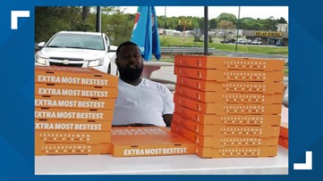 Georgia trucker pays for hundreds of Little Caesars pizzas for families in need