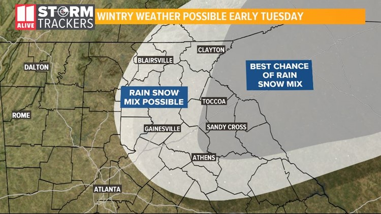 Snow Tuesday Morning-Manual Forecast