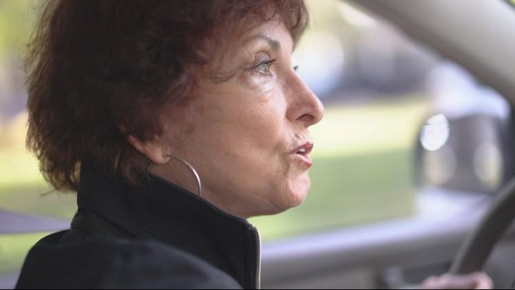 "Renate Solomon, 77, takes 11Alive investigators on a tour where the ""Stocking Strangler's"" crime spree took place in Columbus, Ga. (Brendan Keefe / WXIA)"