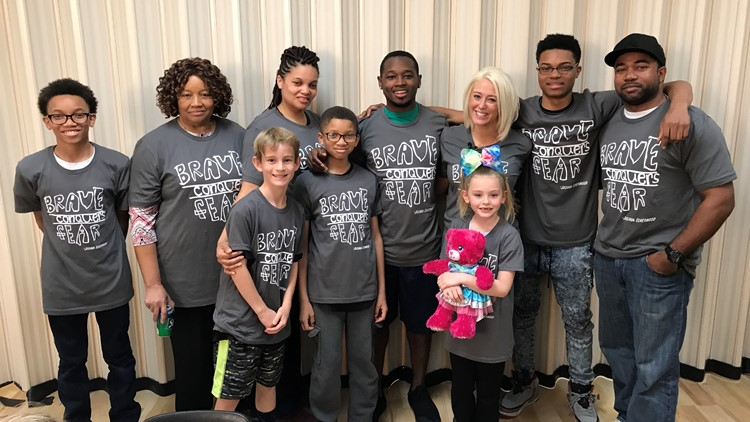 Dante Sipp, donor Lauren and family
