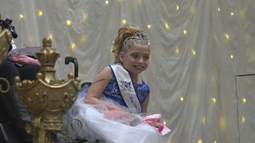 Girl who invented wheelchair body coats is crowned Miss Wheelchair Michigan